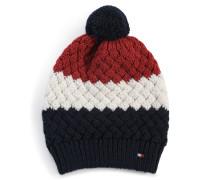 Mütze navy/rot/ecru