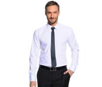 Hemd Slim Fit + Krawatte weiß/navy
