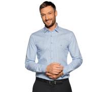 Business Hemd Slim Fit weiß/blau