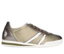 Sneaker grün/silber