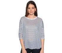 Strickshirt navy/weiß gestreift