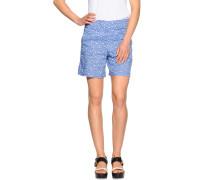Shorts aus Leinen blau/weiß