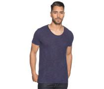 Kurzarm T-Shirt navy/rot