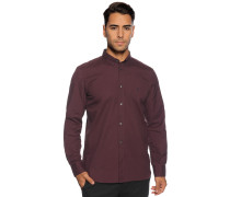 Langarm Hemd Regular Fit bordeaux