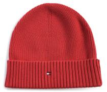 Mütze mit Kaschmiranteil rot