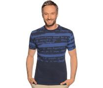 Kurzarm T-Shirt navy/blau