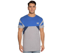 Kurzarm T-Shirt blau/grau meliert