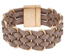 Armband taupe/gold