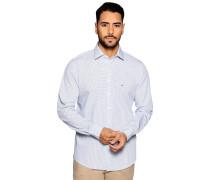 Business Hemd Custom Fit weiß/blau