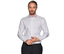 Business Hemd Custom Fit weiß/blau/grün