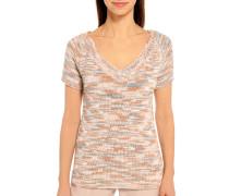 Strickshirt rosa/braun/blau