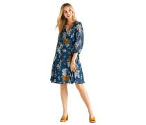 Kleid blau/weiß/gelb