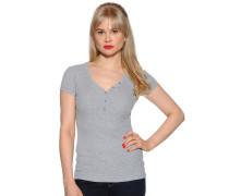 Kurzarm T-Shirt grau meliert