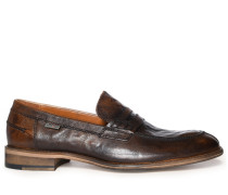 Penny Loafers taupe/schwarz