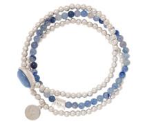 Armband silber/blau