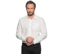 Langarm Hemd Custom Fit offwhite