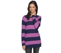 Pullover mit Kaschmiranteil navy/lila