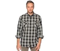 Langarm Hemd Regular Fit schwarz/grau kariert