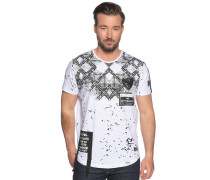 Kurzarm T-Shirt weiß/schwarz