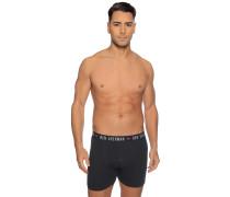 Boxershorts 3er Set schwarz/weiß/grau meliert