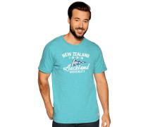Kurzarm T-Shirt grün meliert