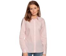 Langarm Bluse mit Webmuster rosa