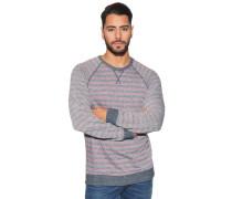 Sweatshirt mit Virskoseanteil, rot/blau