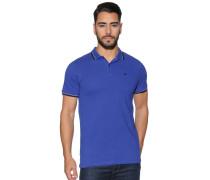 Kurzarm Poloshirt royal blau