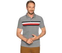 Kurzarm Poloshirt navy/weiß