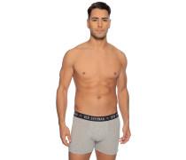 Boxershorts 3er Set grau meliert/weiß/schwarz