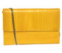 Ledertasche gelb