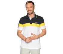 Kurzarm Poloshirt navy/gelb/weiß
