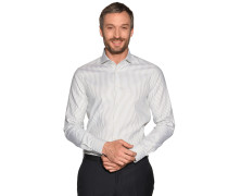 Business Hemd Slim Fit weiß/grün