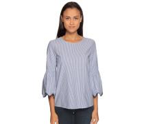 Langarm Blusenshirt blau/weiß