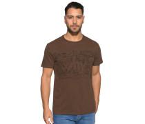 Kurzarm T-Shirt braun