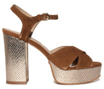 Sandaletten braun/gold