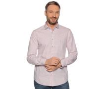 Business Hemd Custom Fit weiß/rot