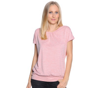 Kurzarm T-Shirt rosa meliert