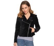 Jacke aus Samt schwarz