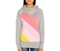 Kapuzensweatshirt grau meliert/rosa