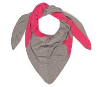 Dreieckstuch grau meliert/pink