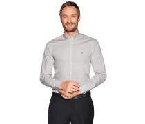 Business Hemd Slim Fit weiß/grau
