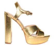 Sandaletten gold Struktur