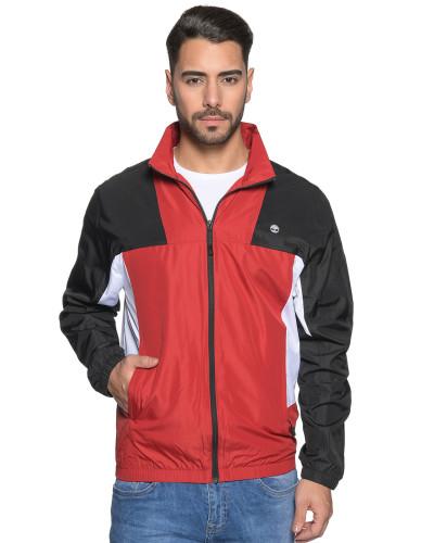Jacke schwarz/rot