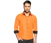 Langarm Hemd Slim Fit orange