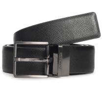 Wendegürtel aus Leder schwarz