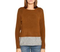 Pullover braun/grau