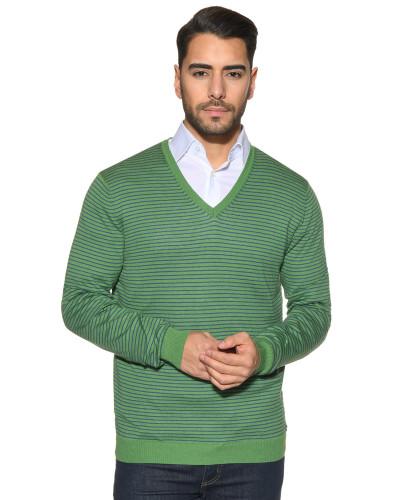 Pullover grün/blau