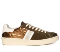 Sneaker braun/gold