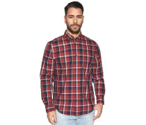Langarm Hemd Regular Fit rot/blau